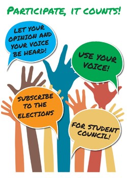 Vote for student council poster