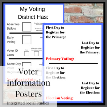 Voter Information Posters
