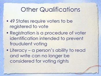 Voter Qualifications