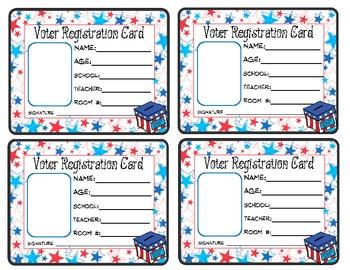 Voter Registration Card - Election Day