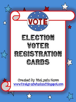 Voter Registration Card for Primary