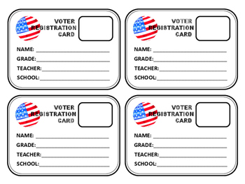 Voter Registration Cards, Ballots & Class Lists!
