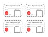 Voter Registration Cards *FREEBIE