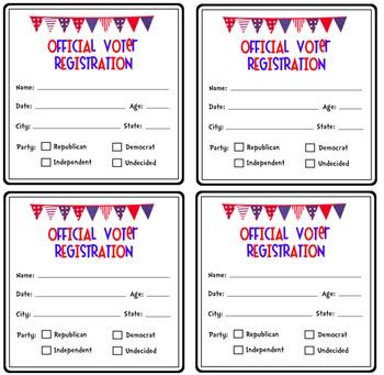 Voter Registration Cards {For An Election}
