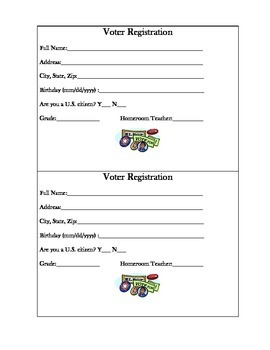 Voter Registration Cards for Students!