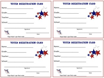 Voter Registration Cards For Students