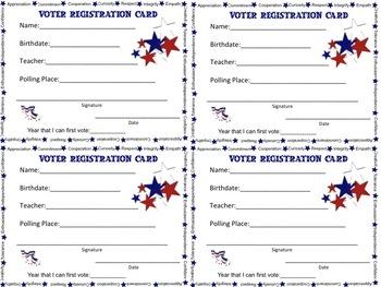 Voter Registration Cards for Students