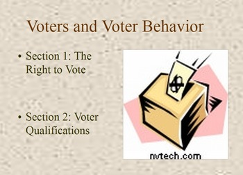 Voters, qualifications, and voter behavior bundle
