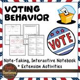 Voting Behavior Interactive Note-taking Activities