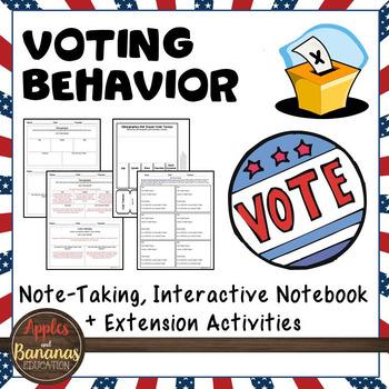 Voting Behavior Interactive Note-taking Activity