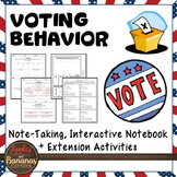 Voting Behavior Interactive Note-taking Activities