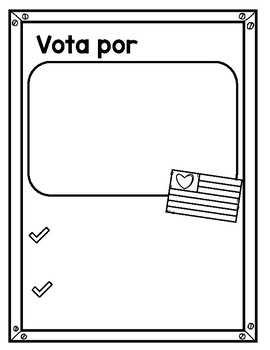 Voting Campaign Poster in Spanish and English / Votar Póster de campaña