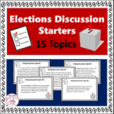 Voting Discussion Cards - Election Topics