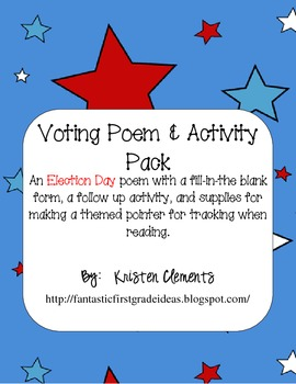 Voting Election Poetry and Activity Pack