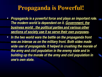 Voting & Elections - The Role of Propaganda