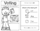 Voting Reader for Kindergarten and First Grade Social Studies Election Day