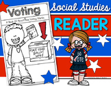 Voting Reader for Election Day Kindergarten & First Grade Social Studies
