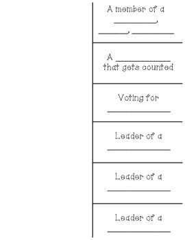 Voting, Laws, and Leaders Foldable
