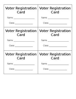 Voting Registration Card