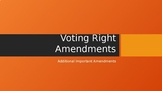 Voting Rights Amendment Power Point Presentation