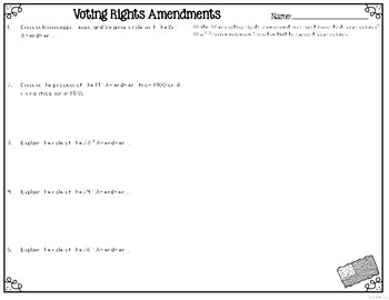 Voting Rights Amendments Suffrage Amendments Leveled Text Reading Passages