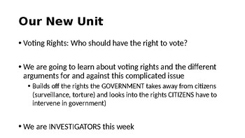 Voting Rights Research Essay Unit