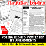 Voting Rights Reading & Writing Activity (SS5CG3, SS5CG3a)