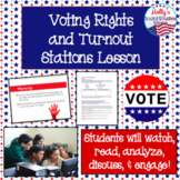 Voting Rights and Turnout Stations Lesson