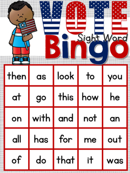 Voting Sight Word Bingo