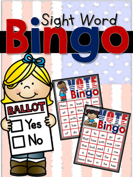Voting Sight Word Bingo