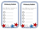 Voting Template for Classroom Elections
