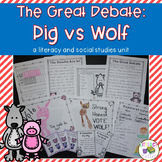 Three Little Pigs & Big Bad Wolf {point of view and voting unit}