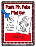 Voting / Vote - Push Pin Poke No Prep Printables - 6 Pictu