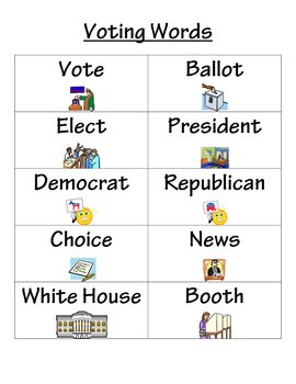 Voting Words ABC Order