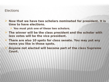 Voting and Class Elections