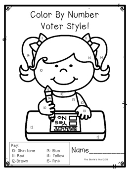 Voting and Election Activities BUNDLE for Pre-K - 1