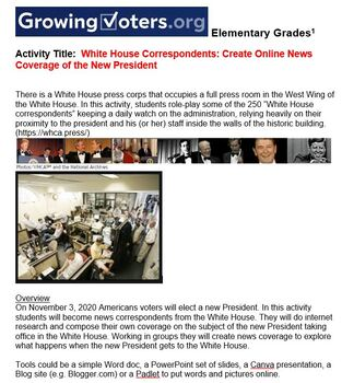 Voting and Election Classroom Activities for Elementary Students across subjects