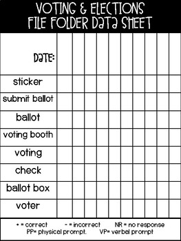 Voting and Election File Folder