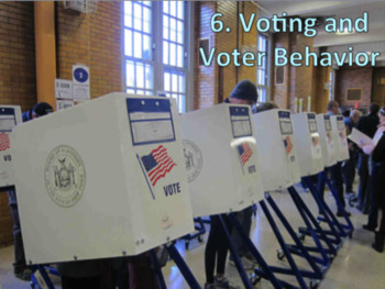 Voting and Voter Behavior (U.S. Government) Bundle with Video