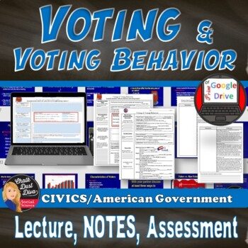 Voting and Voting Behavior Power Point & Reading Activity (Civics)