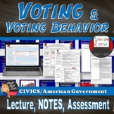 Voting and Voting Behavior Power Point & Reading Activity (Civics)