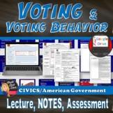Voting & Voting Behavior | Power Point & Reading Activity | Print & Digital