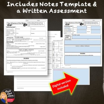 The Influence of the Media on Politics Presentation (Civics) -Grades 8-12
