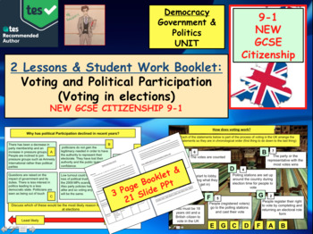 Voting and political participation British Politics GCSE CITIZENSHIP 9-1