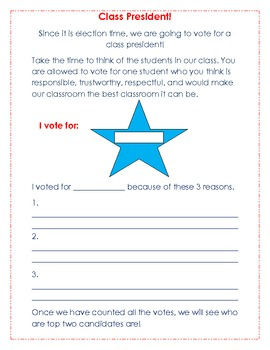 Voting for Class President