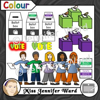Voting in Australia Clipart