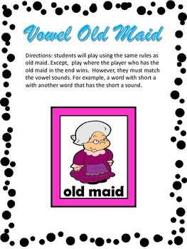Vowel Old Maid