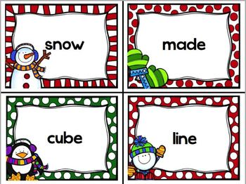 Vowel Activities Winter Theme