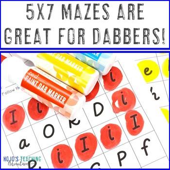 Letter Maze FREEBIE