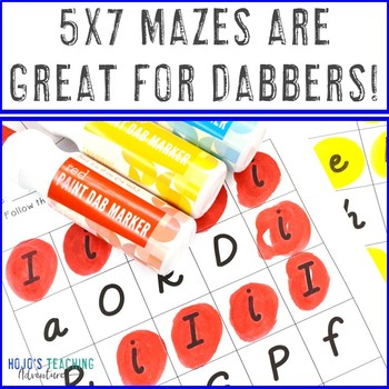 FREE Letter Recognition Maze Activity